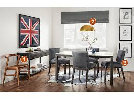 room and board dining room tables why this room works aria table with marie leather chairs