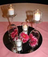 lots of wine glass centerpiece ideas featured