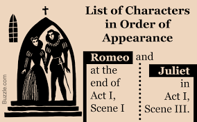 A Full List Of Romeo And Juliet Characters In Order Of