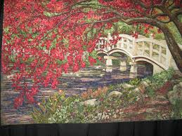 Kay'z Quiltz: Chicago International Quilt Show & There were so many amazing quilts that I've seen, but one that stuck out in  my mind is the beautiful quilt with a bridge. The quilt is named