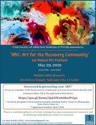 Art Event Flyer Art For The Recovery Community Arc Art Festival