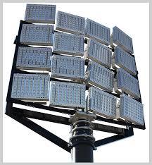 led sports lighting in high mast installation