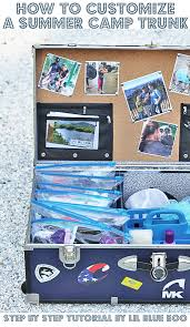 diy camp trunk organizer how to customize and organize an epic summer camp trunk