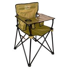 chic ciao baby portable high chair in green with black stand made of iron for baby