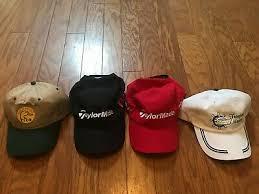 Taylormade - Red / Black - Adjustable Golf <b>Curved Brim Dad Hat</b> Cap