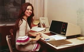 hot office pic. Woman Works At Computer Hot Office Pic F