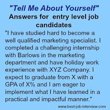 Retail Interview Questions Mesmerizing Tell Me About Yourself The Right Answer In 48 Job Interview