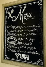 Chalkboard Menu Board Chalkboard Menu Board Frame Reuse Into A Includes Paint
