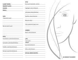 qc makeup academy makeup course face chart photo