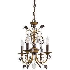minka lavery belcaro walnut four light mini chandelier