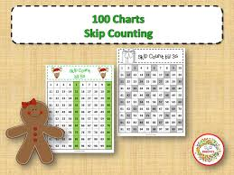 Skip Counting Chart 100 Number Charts With Skip Counting Christmas