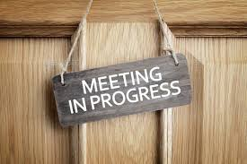 Meeting In Progress Sign On Office Door Stock Photo By Brianajackson