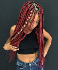 Light Red Box Braids 20 Unrivaled Triangle Braids To Try