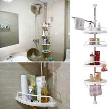 Telescopic Shower Corner Shelves 100 Tier Adjustable Telescopic Bathroom Corner Shower Shelf Rack 17