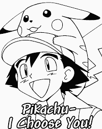 Ash En Pikachu Kleurplaat Inkleuren
