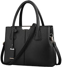 B&E LIFE <b>Stylish Women</b> Pu Leather Vertical Utility Top Handle ...