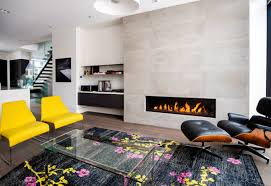 modern fireplace design ideas set in white wall contemporary style