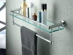 glass shelf with towel bar bathroom shelf with towel bar bathroom shelf with towel bar brushed