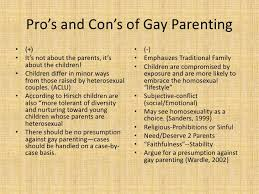 Cons of gay parenting