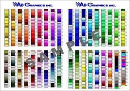 Dye Sublimation Color Chart Color Chart Pompano Beach Fl 4 Color Process Printing