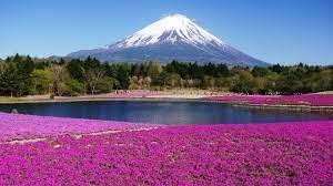 Honshu Island Japan - view of Mount ...