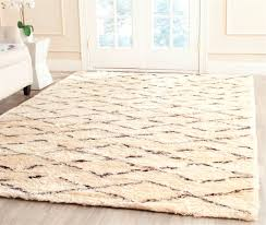 charming safavieh rugs casablanca csb847a white brown area rug for floor decor ideas charming shag rugs