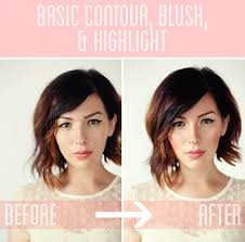 cheek contour before and after. basic contour, blush, and highlight tutorial cheek contour before after