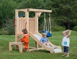 wooden children s outdoor swing designs