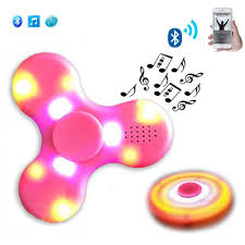 Fidget Spinner With Bluetooth Speaker And Lights Us 2 92 27 Off Fashion Bluetooth Speaker Hand Spinner Led Light A Rechargeable Relieve Stress Hand Finger Music Gyro Fingertip Toys B Nsv775 In