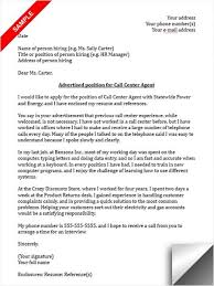 Cover Letters For Call Centre Jobs
