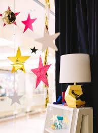 Fensterdeko Basteln Girlande Sterne Bunt Gold Pink