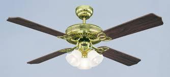 westinghouse ceiling fan monarch trio polished brass 132 cm 52 with lights bild