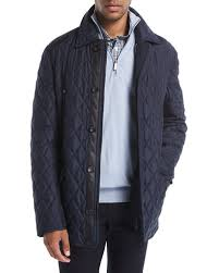 Brioni Quilted Silk Car Coat &  Adamdwight.com