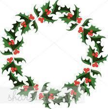 <b>christmas decorations cartoon</b> wreath - Google Search | Holly ...