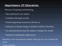 importance of education importance of education