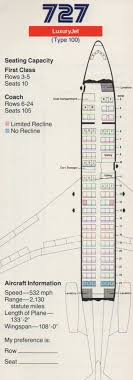 17 best images about american airlines american vintage airline seat map aa s boeing 727 100 from 1985 via boardingarea