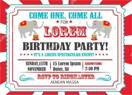 Carnival Birthday Party Invitations Template Themed Invitation