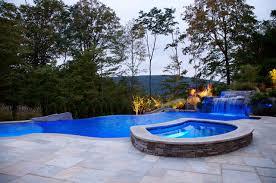 infinity pool backyard. Backyard Infinity Pool With Hot Tub L