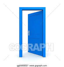 open front door clipart. open single blue door front clipart n