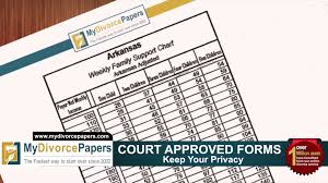 Child Support Standards Chart 2013 How To File Arkansas Divorce Forms Online