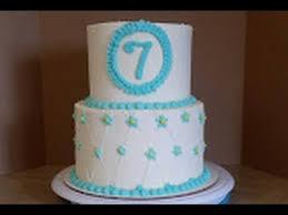 2 Tier Birthday Cake Cake Decorating Youtube