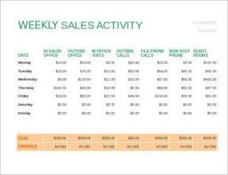 8 Weekly Sales Activity Report Examples Pdf Excel Examples