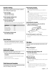 kenwood kdc how to set clock kdc radio cd player instruction manual