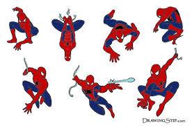 spiderman hanging upside down drawing