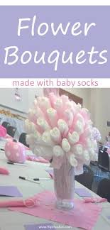 flower bouquets made with baby socks how to make a sock into a flower gifts for es
