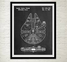 wall art for home office. Star Wars Patent Home Office Decor SpaceCraft Art Prints  Millennium Falcon Wall Hanging Wall Art For Home Office T