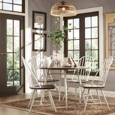 Belita 5-piece Mid-century Two-tone Modern Wood Dining Set by TRIBECCA HOME  by INSPIRE Q