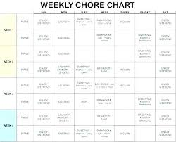 Weekly Chores List Template Home Schedule Template House Cleaning Chart Weekly Chores