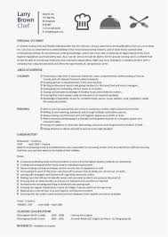 Culinary Resume Skills 2018 Chef Resume Sample Examples Sous Chef