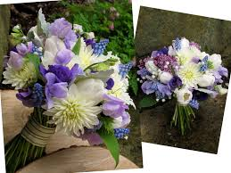 Wedding Bouquets In Purple Lavender Blue And Champagne Jun 2